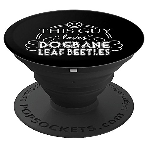 Guy Loves Dogbane Leaf Beetles Insect - PopSockets Grip and Stand for Phones and Tablets