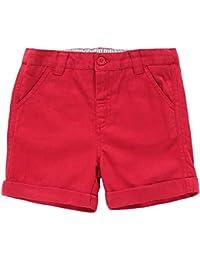 JoJo Maman Bebe Chino Shorts (Boys) - Red-5-6 Years
