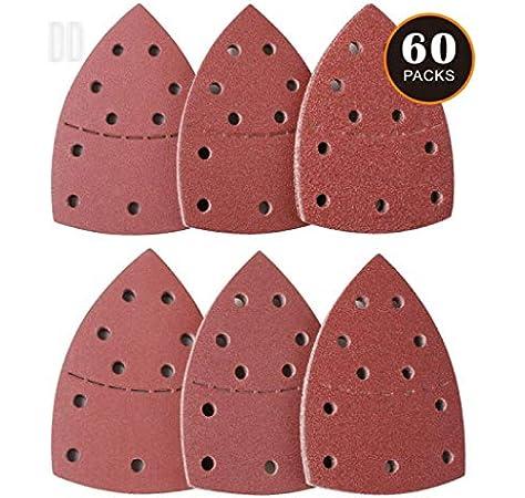 Bosch 2 609 256 A52 Juego de hojas de lija de 5 piezas para lijadora Delta