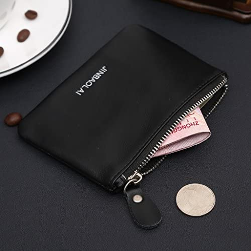BCHZ Mens Business Leather Money Clip Slim Wallets ID Credit Card Holder Coin Purse