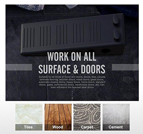 Rubber Door Stopper, Chefic Flexible Door Stop Wedge 4 Pack, Smart Stackable Slip-Resistant Design, 100% Non-Toxic Odorless Doorstop Works Perfectly on Most Floors by Chefic (Image #4)