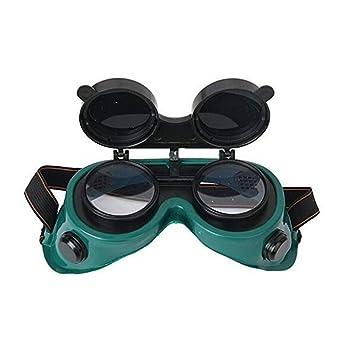 Soldadura frontal abatible gafas gafas de lentes - uso de soldadura, soldadura, incendio, soldadura y corte de Metal verde: Amazon.es: Salud y cuidado ...