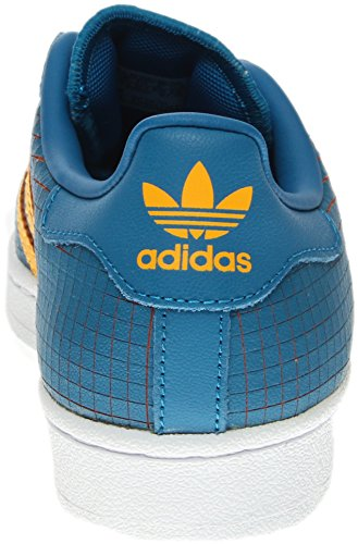 Adidas Youths Superstar F37789 Leather Trainers Blau