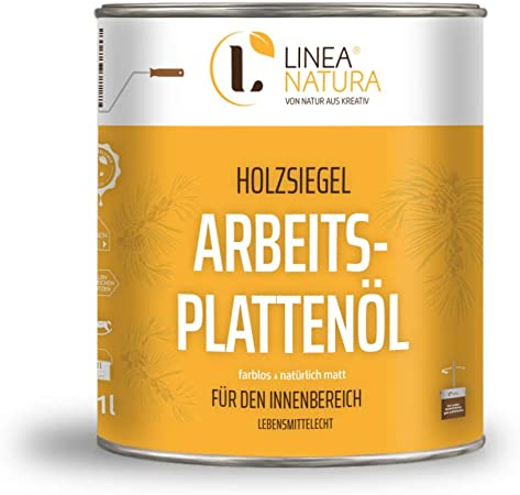 LINEA NATURA® Areitsplattenöl - Aceite para madera natural mate - incoloro 1 l: Amazon.es: Bricolaje y herramientas
