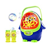 Nori Bubble Machine, Automatic Penguin Bubble Blower Maker for Kids, Powered by 4 pieces AA Batteries, with 2 Extra Manual Bubble Wands Gifts, Easy to Use for Christmas, Parties, Wedding