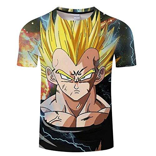 ZeroGoo Goku Vegeta DBZ Dragon Ball Super Saiyan Shirt for Men Kid Adult Teen,Last Anime 3D Print Short Sleeve T Shirt (VT-1, M)