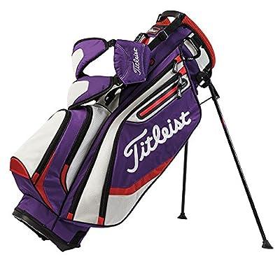 Titleist Lightweight Stand Bag, Purple/Gray/Fire Red