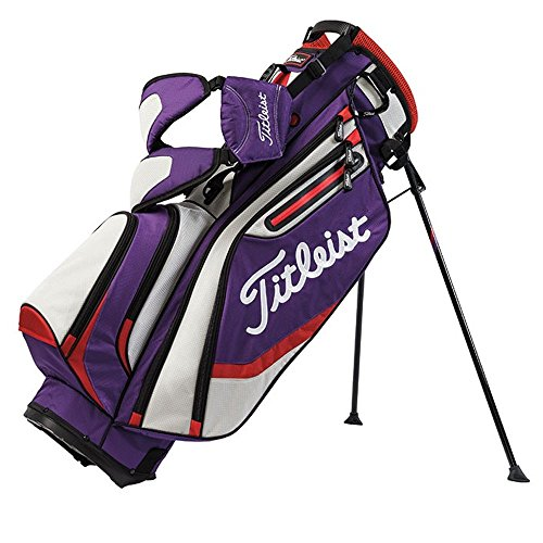 Titleist Lightweight Stand Bag, Purple/Gray/Fire Red