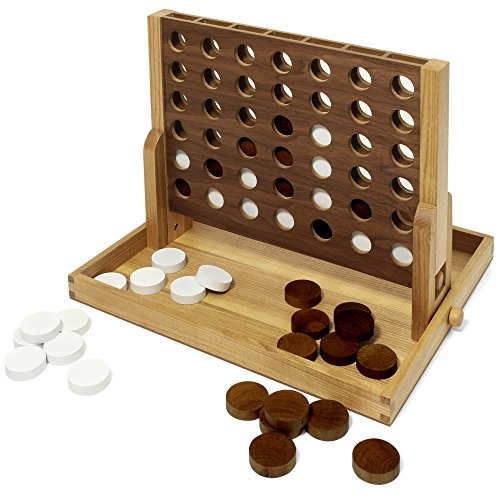 Collector's Edition Connect 4 with Walnut and Oak Wood Finish