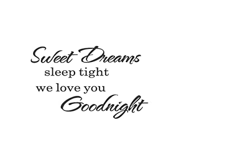 Sweet Dreams Sleep Tight Wall Stickers Art Decal Quote Removable Quote Art  Decoration Removable Quote Art