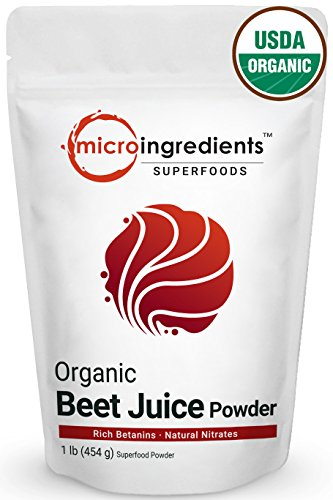 Premium Pure Organic Beet Root Juice Powder, 1 Pound (454g), Natural Nitrates for Energy Booster, Best Vegan Superfoods. Non-Irradiated, Non-Contaminated and Non-GMO