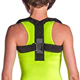 BraceAbility Posture Corrector Brace | Upper Back Straightener to Fix Hunched, Rounded or Stooped Shoulders, Forward Head and Neck Posture Improvement at Home or Work (Small)