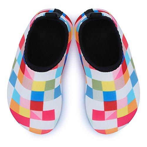 Barerun Kids Quick-Dry Wasserschuhe Leichte Aqua Socken für Beach Pool Surf Yoga Übung Gitter