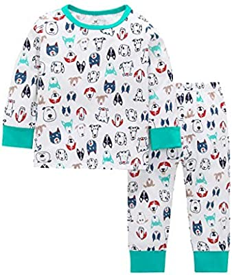 Toddler Kid Baby Boy Girl Long Sleeve Cartoon Tops+Pant Pajamas Sleepwear Outfit