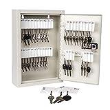 Kyodoled Key Storage Lock Box with Code,Locking Key Cabinet,Key Management Wall Mount with Combination Lock,40 Key Hooks & Tags Key Labels