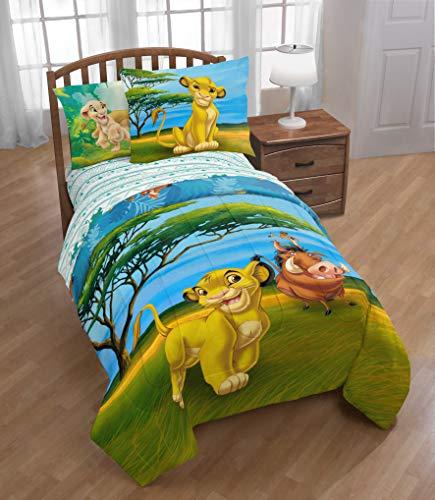 Franco Lion King Deep Jungle Full Reversible Comforter and 4 Piece Full Sheet Set