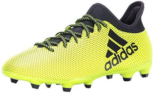 adidas Originals Men's X 17.3 FG Soccer Shoe, Solar Yellow/Legend Ink/Legend Ink, 9 Medium US