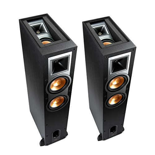 Klipsch R-26FA Dolby Atmos Floorstanding Speakers - Pair (Black) by Klipsch