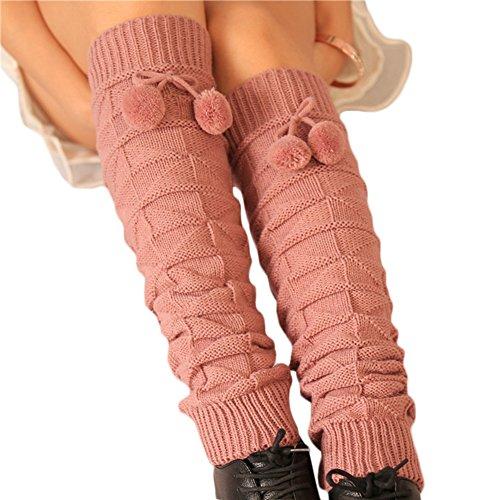 UPC 701041483462, Tirain Cute Kintted Leg Warmer Winter Boot Socks Cuffs Leggings with Pom Tie (Lightcoral)
