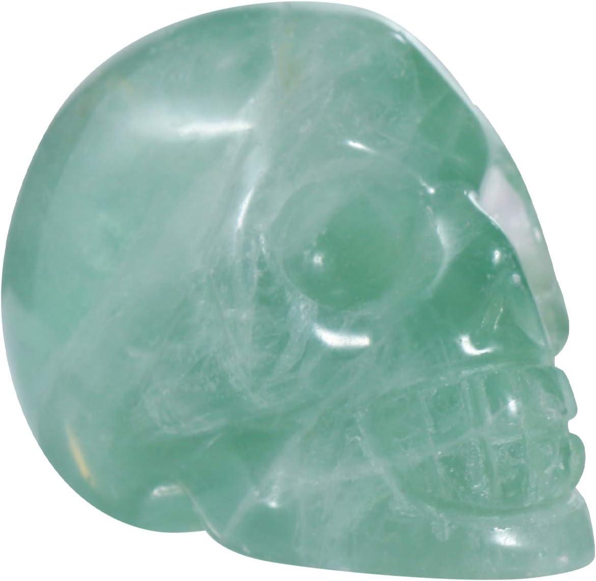 Cabilock Jade Tallado Cr/áneo Piedra Cristal Calavera Escultura Tallada Piedra Preciosa Estatua Estatuilla Halloween Hogar Escritorio Decoraci/ón