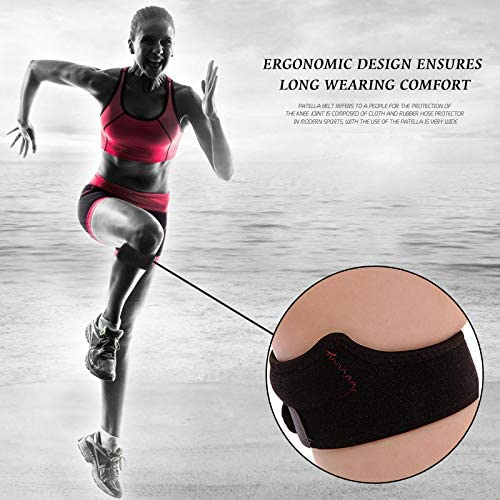 Running Hiking Jumpers Knee and Tennis Basketball YOUQING 2 Pack Knee Strap Pain Relief Band with Silicone Pad Adjustable Knee Brace for Soccer