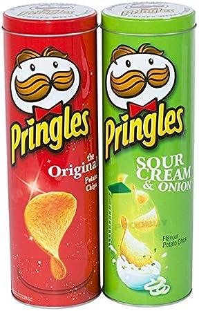 2 x de alto 27 cm Pringles – Lote de botes, color rojo y verde ...