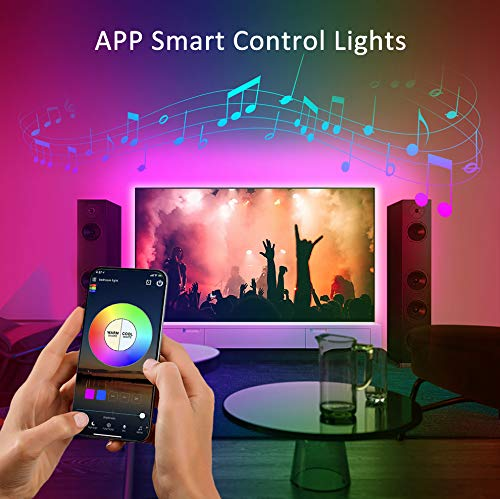 COSITA LED Strip Lights, 32.8ft RGB Smart WiFi LED Light Strip with 24 Keys IR Remote and and App Controlled, 5050 Flexible Color Changing Waterproof Led Rope Lights for TV Backlight,Bedroom,Party
