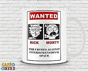CANECA RICK AND MORTY WANTED: Amazon.com.br: Cozinha