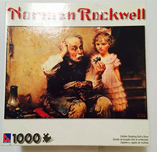 Norman Rockwell Cobbler Studying Doll's Shoe 1000 Piece Puzzle (Dolls Rockwell Norman)