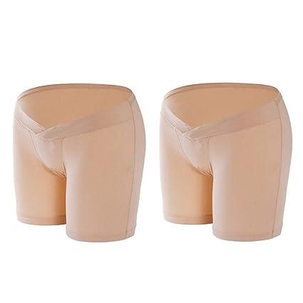 Maternidad / Ropa interior / Calzoncillos 2pack embarazada debajo de las bragas ajustable suave cómoda maternidad
