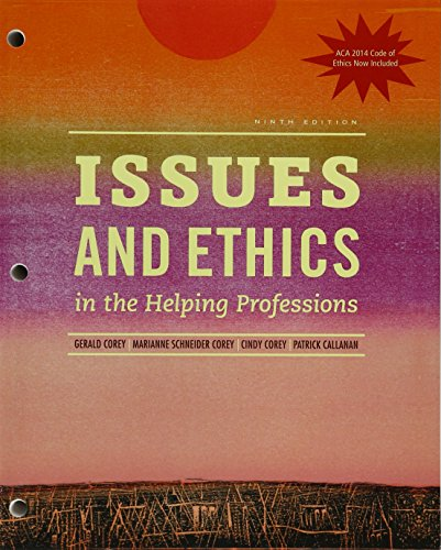 Issues and Ethics in the Helping Professions With 2014 Aca Codes + Mindtap Counseling, 1 Term 6 Months Printed Access Ca