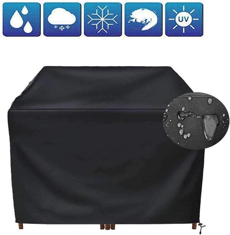 LCAIHUA ガーデン家具カバーオックスフォード布 アウトドア庭園防塵防水庭園テーブル 家具、18サイズ、 ブラック (Color : Black, Size : 350x260x90cm)
