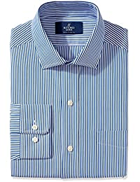 Men's Classic Fit Spread-Collar Pattern Non-Iron Dress Shirt With Pocket