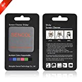 [4-PACK] - Microfiber Screen Cleaner Sticker; Screen Cleaner Cloth; Screen Cleaner Sticker for IPAD iphone Camera Glasses; 4-in-1; Large Size: 1.6 x 1.6 inches (4cm x 4cm) (GRAY)