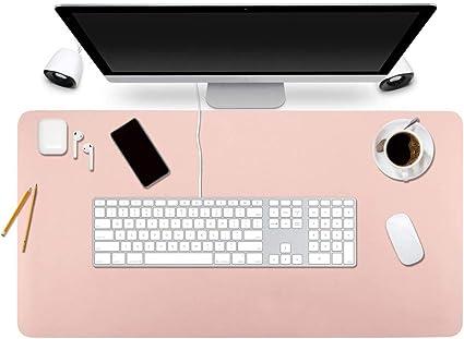 "BUBM Desk Pad Office Desktop Protecter 31.5/"" x 15.7/"" PU Leather Desk Mat"