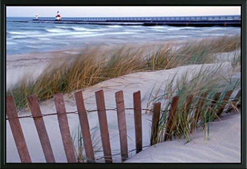 Easy Art Prints Brent Bergherm's 'St Joseph Lighthouse' Premium Framed Canvas Art - 24