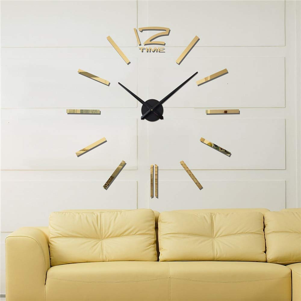 Kamas Reloj Pared 2019 3D Wall Stickers Creative Living Room Clocks Large Wall Clock Modern Design DIY Fashion Home Decor - (Color: Golden, ...