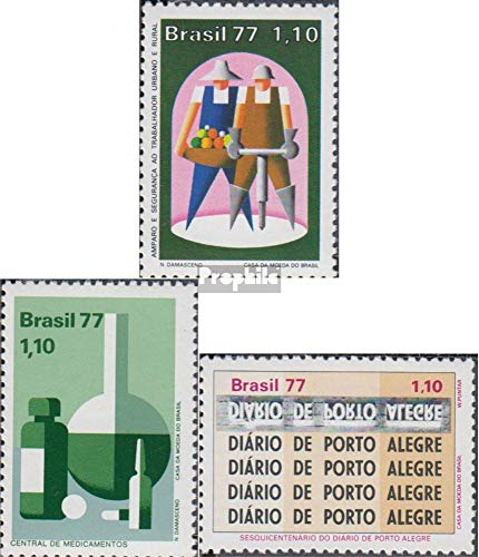 (Brazil 1590-1591,1596 (Complete.Issue.) 1977 Sozialfürsorge, Newspapers (Stamps for Collectors))