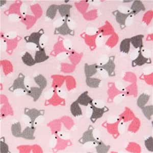 Amazon.com: pale pink fox flannel fabric Urban Zoologie ...