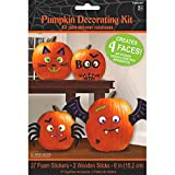 Cute Characters Halloween Trick or Treat Pumpkin Carving Decorating Party Activity Kit, Foam, Pack of 29.