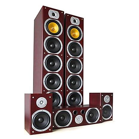 dec0ae729d9f92 Beng V9B Sistema diffusori 5.1 home theatre Hi-Fi (1240 Watt max, 5 ...