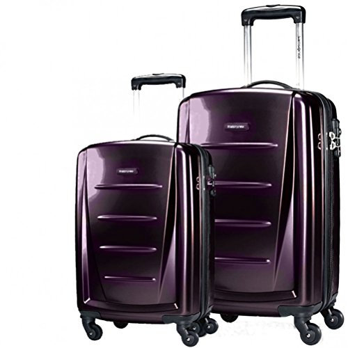 Samsonite Winfield 2 Fashion Hardside Spinner (20-Inch & 24-Inch, Purple) ()
