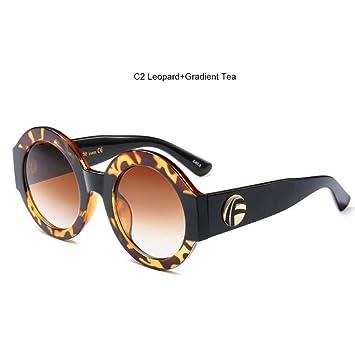 LIUYAWEI Brillo Gafas de Sol Redondas Mujer 2019 Tendencias ...