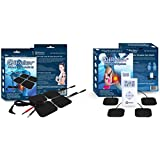 iReliev TOP-BEST TENS Massager Unit & (20) Electrode Pad Bundle for Pain Relief, Joint or Muscle Pain. 100% Satisfaction or $$ Back! 2 Year Warranty. Powerful Portable Dual Channel TENS Device, Credit Card Size. Delivers Relaxing Massage-like Impulses for Drug Free Electrotherapy Relief.