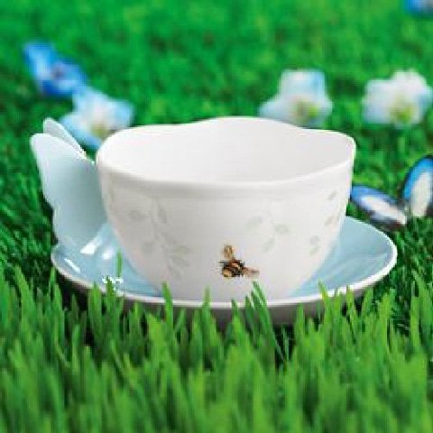 Louise Saucer - Lenox Butterfly Meadow Butterfly Blue Cup(s) & Saucer(S)