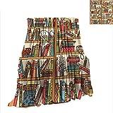 fine diy ladder bookshelf RenteriaDecor Blanket Cat,Nerd Book Lover Kitty Sleeping Over Bookshelf in Library Academics Feline Cosy Boho Design,Multi Digital Printing W51 x L60 inch