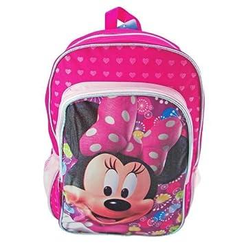 Disney Mochila - - Minnie Mouse - Corazones rosa 16 (Bolso escolar grande): Amazon.es: Juguetes y juegos