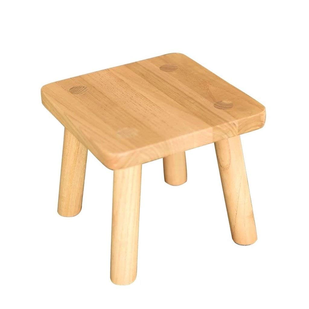 B RMXMY Simple Modern Creative Home Pure Natural Wooden Multifunctional footrest Dressing stoolCover for Comfort and Strong Sturdy Legs -Bedroom Dining Room (color   A)