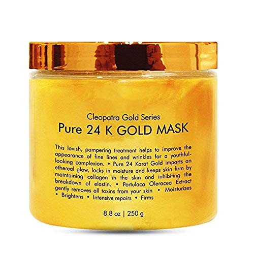 24K Gold Facial Mask,INST Ancient Face Mask Formula for Anti Aging Anti Wrinkle Facial Treatment,Clears Acne, Minimizes Pores, Reduces Fine Lines,Blackhead Remover,Moisturizing Skin-8.8Oz
