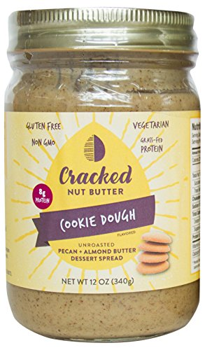 Peanut Pecan Cookies (Cracked Nut Butter Unroasted Pecan Plus Almond Butter Dessert Spread, Cookie Dough, 12 Ounce)